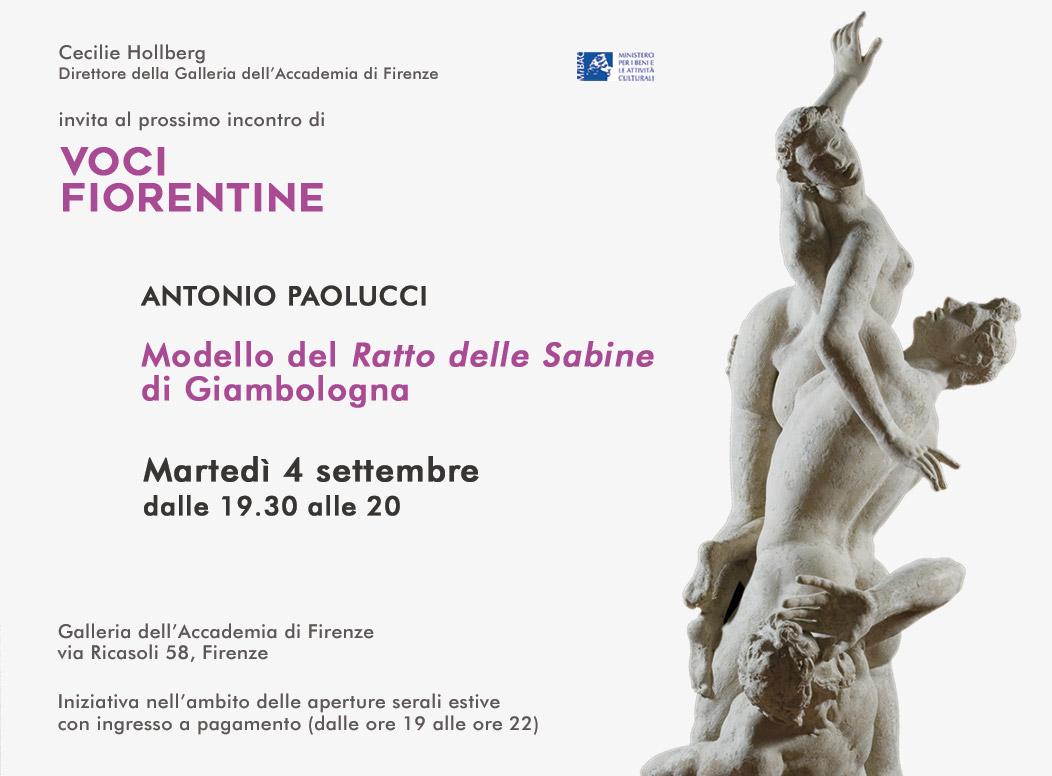 Voci Fiorentine - Antonio Paolucci - Modello Ratto delle Sabine Giambologna